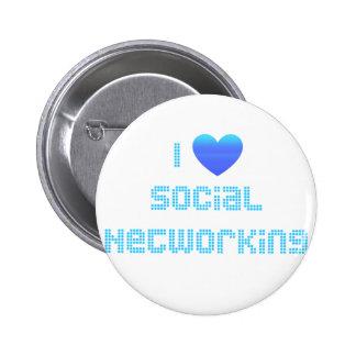 Amo establecimiento de una red social pin redondo de 2 pulgadas