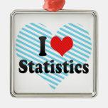 Amo estadísticas ornamentos de navidad