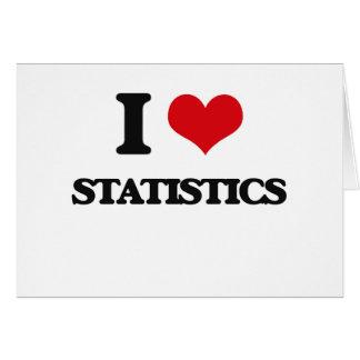 Amo estadísticas tarjeta pequeña