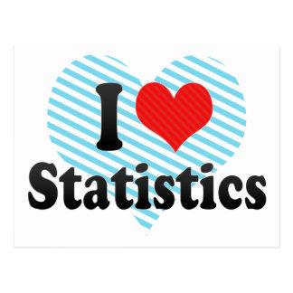 Amo estadísticas tarjeta postal