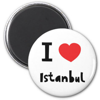 Amo Estambul Imán Redondo 5 Cm