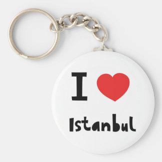 Amo Estambul Llavero Redondo Tipo Pin