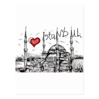 Amo Estambul Tarjetas Postales