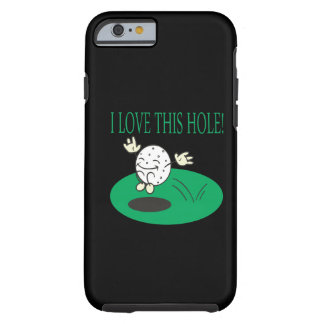 Amo este agujero funda de iPhone 6 tough