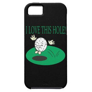 Amo este agujero iPhone 5 carcasas