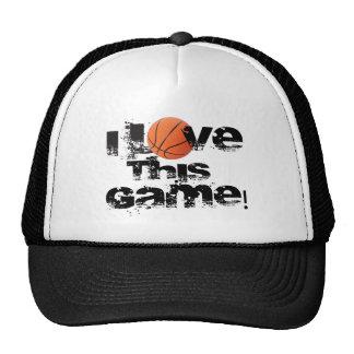Amo este casquillo del baloncesto del juego gorra