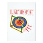 Amo este deporte invitación 12,7 x 17,8 cm