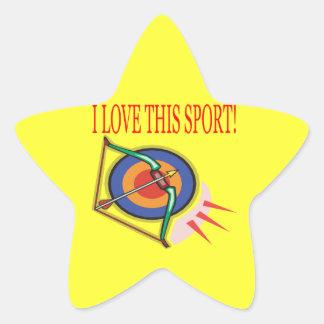 Amo este deporte pegatina en forma de estrella