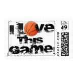 Amo este franqueo del baloncesto del juego