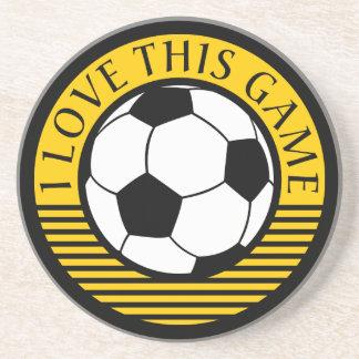 Amo este juego - balón de fútbol/del fútbol posavasos diseño