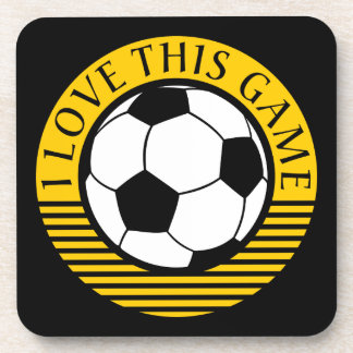 Amo este juego - balón de fútbol/del fútbol posavasos