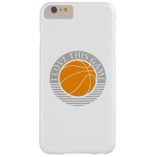 Amo este juego - baloncesto funda de iPhone 6 plus barely there