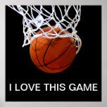 Amo este poster del baloncesto del juego póster