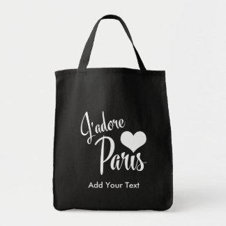 Amo estilo del vintage de París - de J'adore París Bolsa Tela Para La Compra