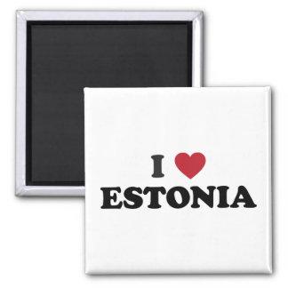 Amo Estonia Imán Cuadrado