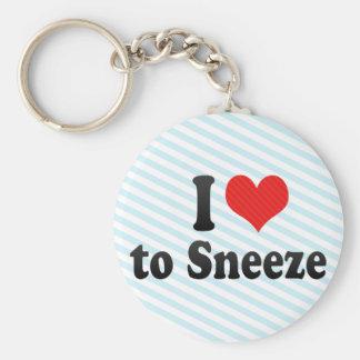 Amo estornudar llavero redondo tipo pin