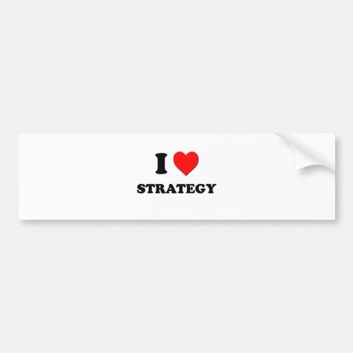 Amo estrategia etiqueta de parachoque