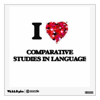Amo estudios comparativos en lengua vinilo decorativo