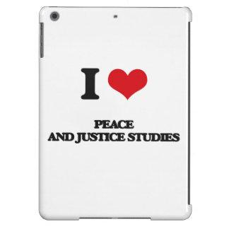 Amo estudios de la paz y de la justicia funda para iPad air