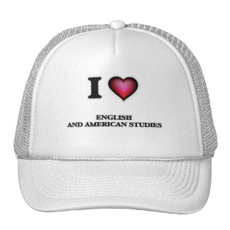 Amo estudios del inglés y del americano gorras de camionero