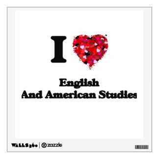 Amo estudios del inglés y del americano vinilo adhesivo