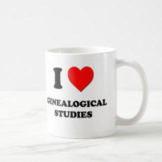 Amo estudios genealógicos taza