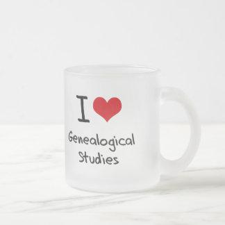 Amo estudios genealógicos tazas