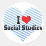 Amo estudios sociales pegatina
