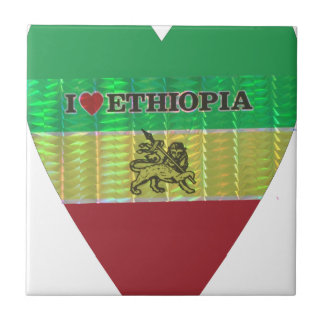 Amo Ethiopia.png Azulejo Cuadrado Pequeño
