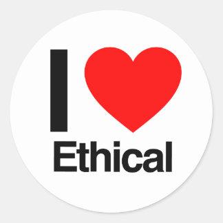 amo ético pegatinas redondas