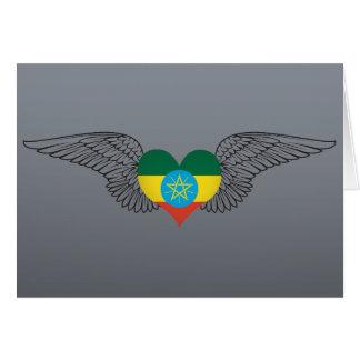 Amo Etiopía - alas Tarjeton