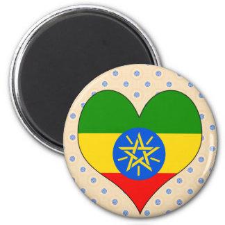 Amo Etiopía Imán Redondo 5 Cm