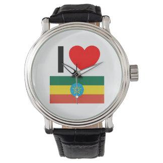 amo Etiopía Relojes De Pulsera