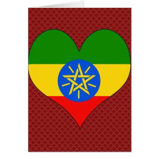 Amo Etiopía Tarjeta De Felicitación