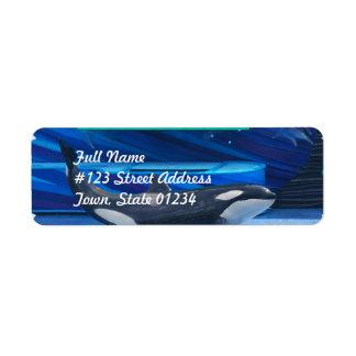 Amo etiquetas de correo de las orcas etiqueta de remite