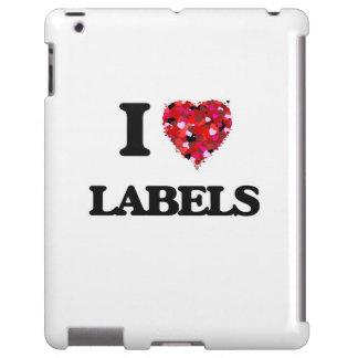 Amo etiquetas funda para iPad