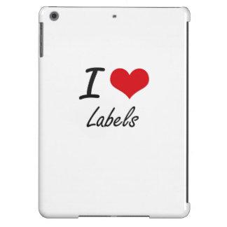 Amo etiquetas funda para iPad air