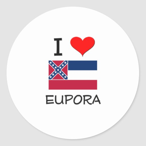 Amo Eupora Mississippi Pegatina Redonda