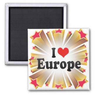 Amo Europa Imán Cuadrado