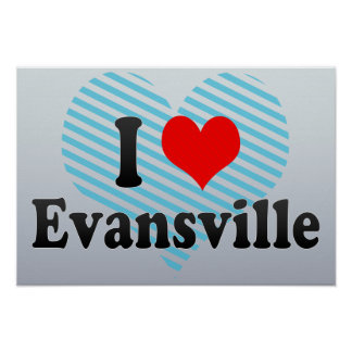 Amo Evansville, Estados Unidos Póster
