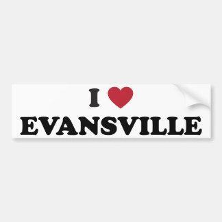 Amo Evansville Indiana Etiqueta De Parachoque