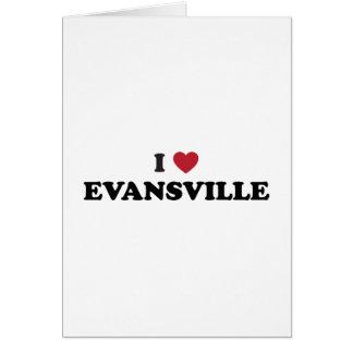 Amo Evansville Indiana Tarjeta De Felicitación