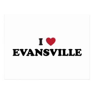 Amo Evansville Indiana Tarjetas Postales