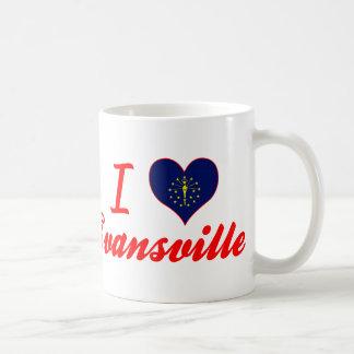 Amo Evansville, Indiana Taza De Café