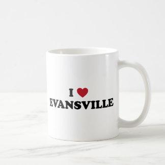 Amo Evansville Indiana Taza De Café