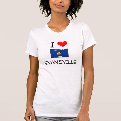 Amo Evansville Wisconsin Camiseta