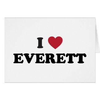 Amo Everett Washington Tarjeta De Felicitación