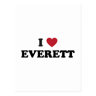Amo Everett Washington Tarjetas Postales