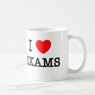 Amo exámenes tazas de café