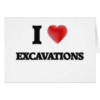 Amo EXCAVACIONES Tarjeta De Felicitación